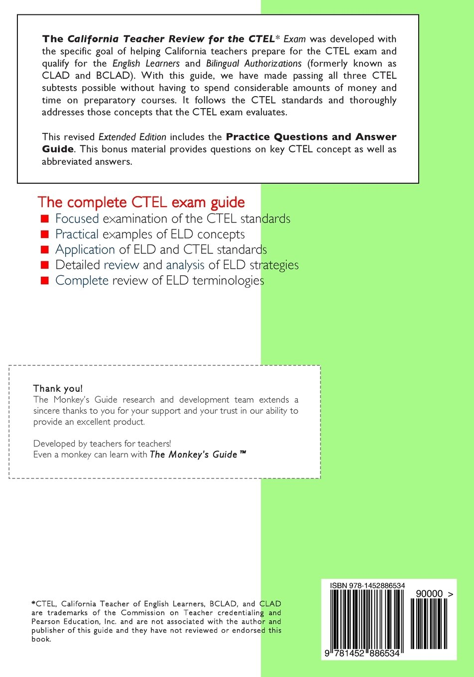 California Teacher Review for the CTEL Exam, Extended Edition: Theodore  Johnson: 9781452886534: Amazon.com: Books