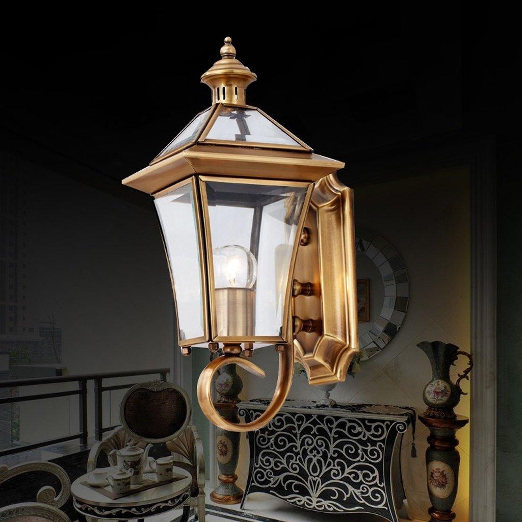 Kupfer Wandleuchte Wohnzimmer Lampe Nachttischlampe Leuchten Balkon Gang Leuchten Außenleuchten E 27.