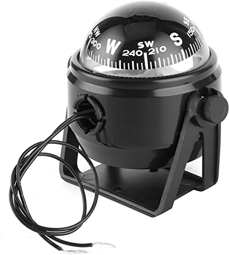 LED Compass For Boat, 12V LED Sea Marine Electronic Digital Compass Dash Mount Flush Boat Yacht Ship Navigation Compass ABS for Sail