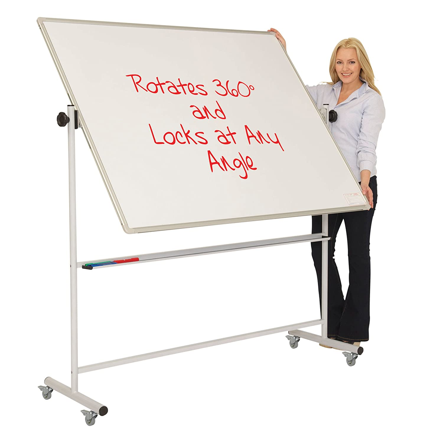 Spaceright Europe 120 x 90 cm Magnetic Mobile Swivel Writing Board