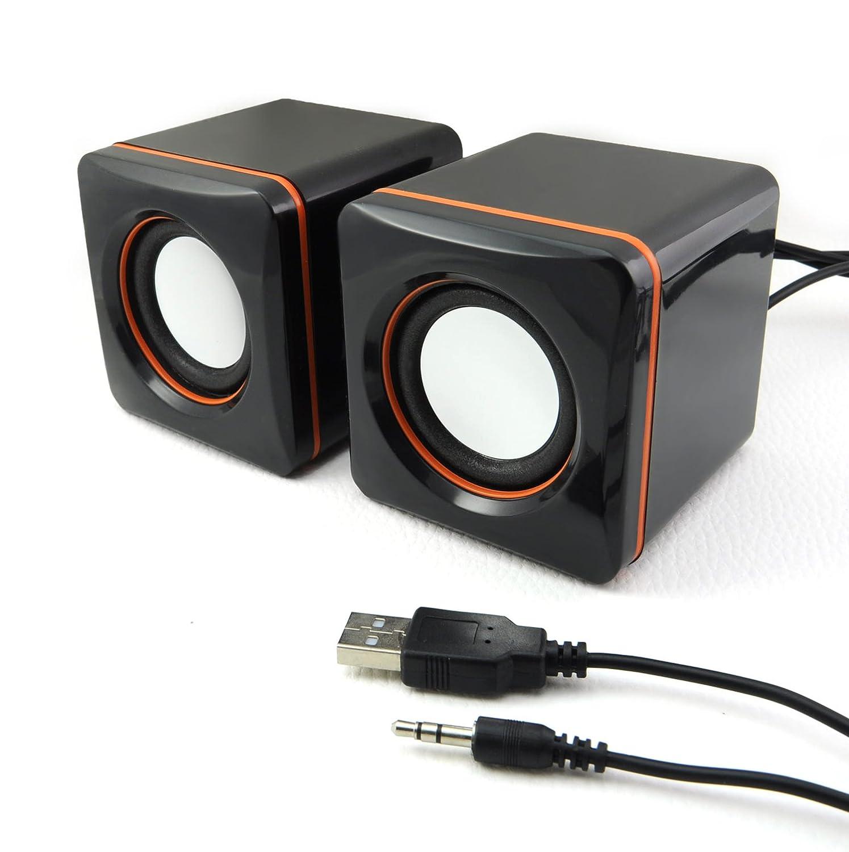 Incutex PC Multimedia Mini Estació n de Sonido Audio Cajas Speakers Sistema de Sonido portá til Altavoz Model 2 668..
