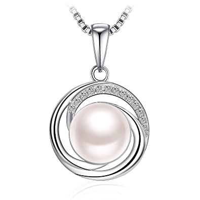 Collier, J.Rosée Argent 925 Bijoux Femme/Fille, Pendentif Perle d