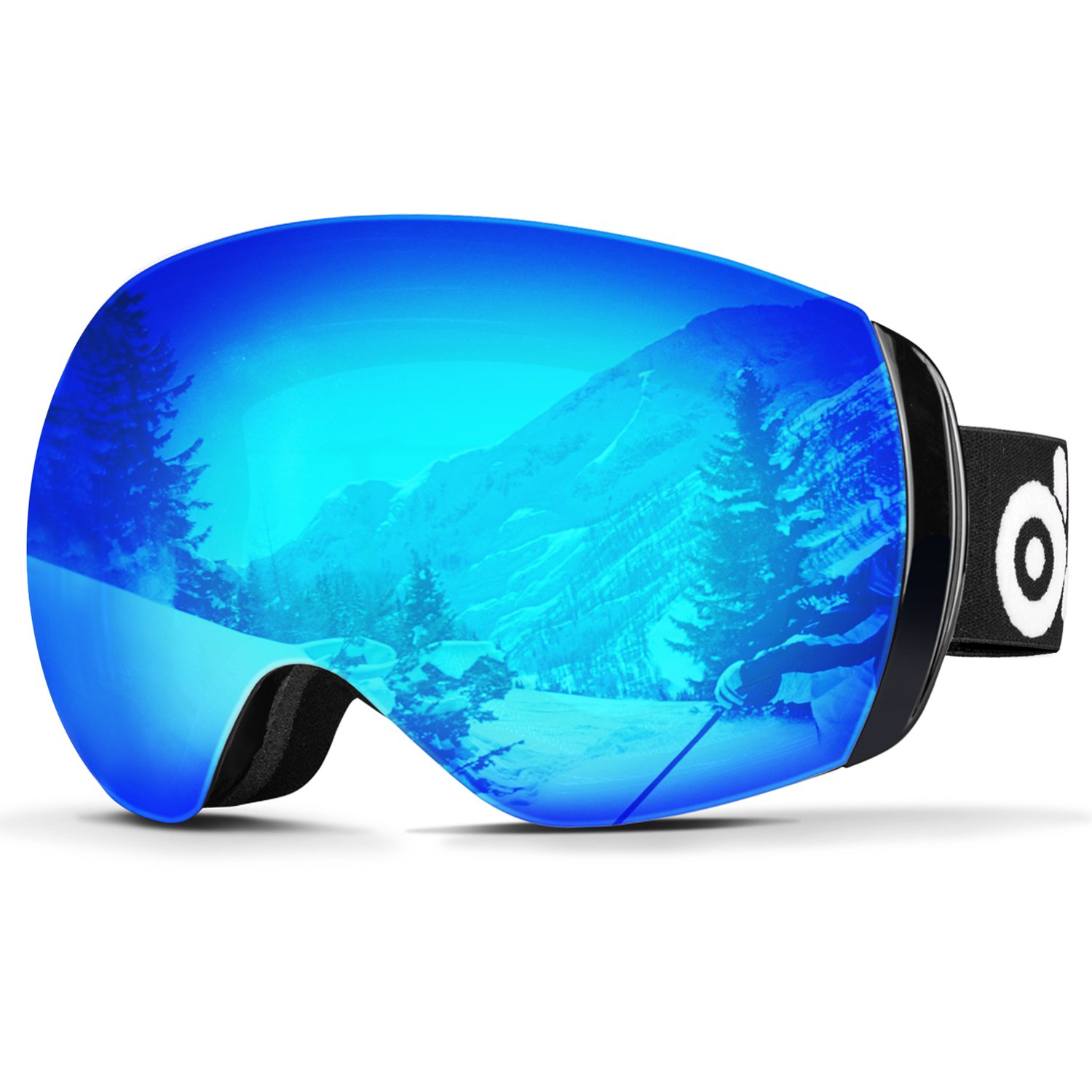 da3d657dc4a5 Amazon.com   Odoland Large Spherical Frameless Ski Goggles for Men ...