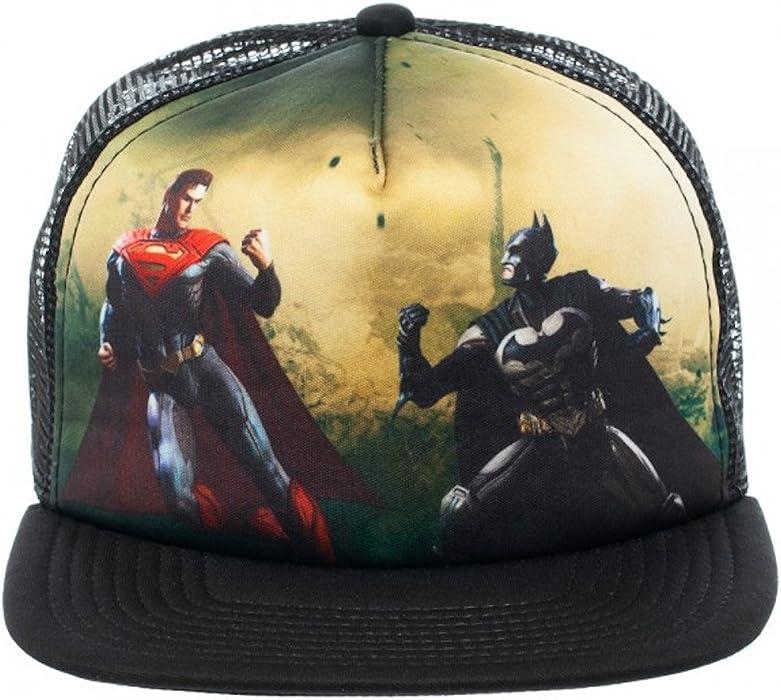 DC Comics Injustice Batman Vs. Superman Full Print Trucker Baseball Cap Hat 14c7af4b62d
