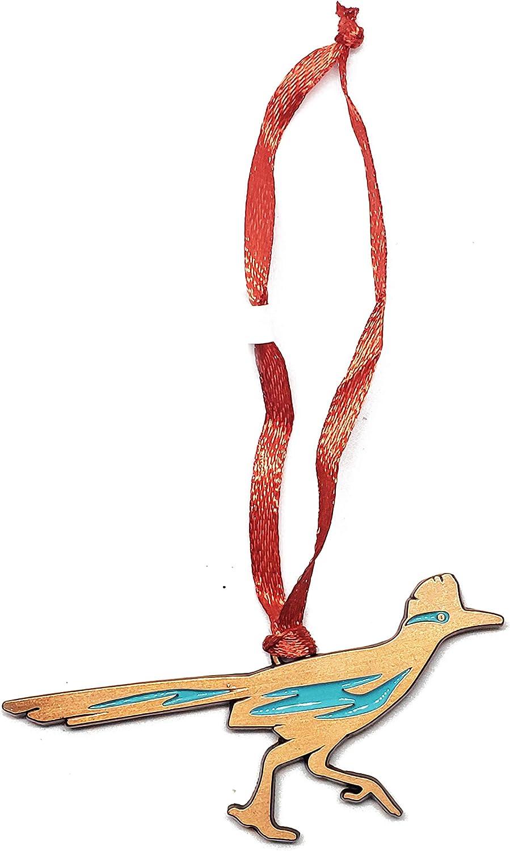 Road Runner Christmas Mini Ornament Bronze Charm New Mexico Souvenir Southwest Gift