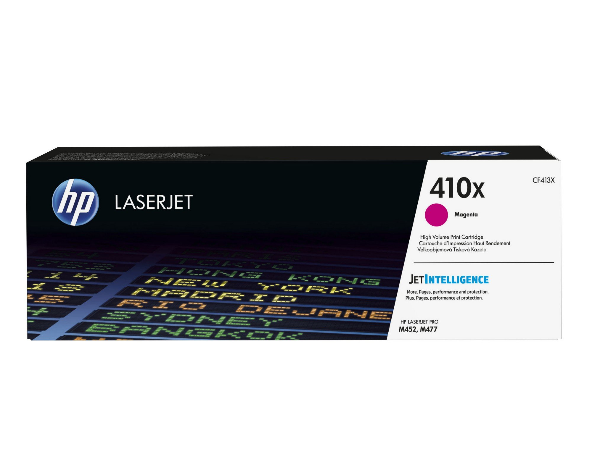 HP 410X (CF413X) Toner Cartridge, Magenta High Yield for HP Color LaserJet Pro M452dn, M452dw, M452nw, MFP M377dw, MFP M477fdn, MFP M477fdw, MFP M477fnw by HP