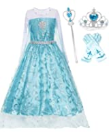 Romy's Collection Ice Queen Glitter Princess Dress