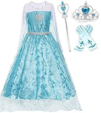 Ice Queen Dress Detailed