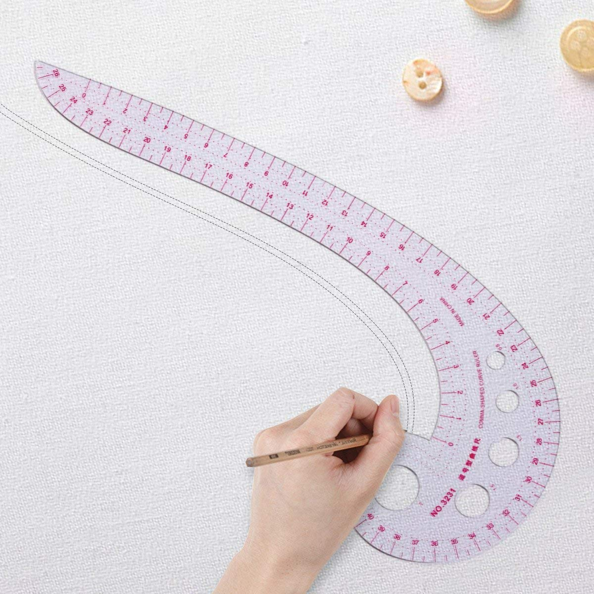 6 Stlye Plastic Curve Stick Pattern Design DIY Sewing Ruler Tailor Set French Curve Ruler Accessories