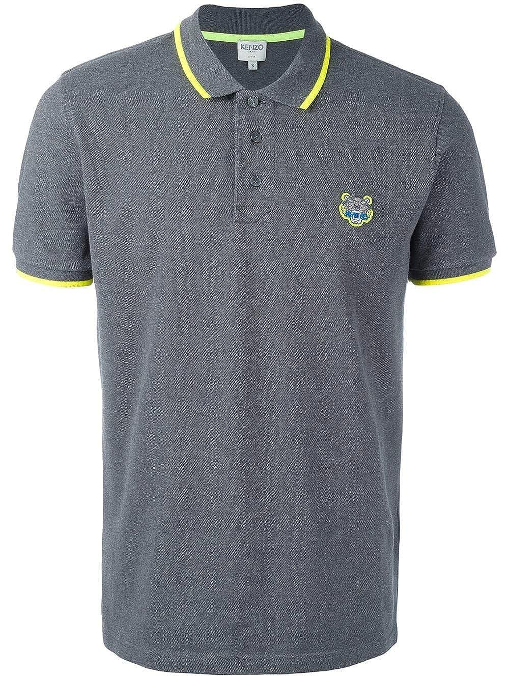 9426aa6cf7 Kenzo Men's White Tiger Head Polo Shirt Dark Grey at Amazon Men's Clothing  store: