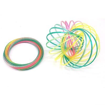 images détaillées attrayant et durable conception adroite 1 PCS Coloré Printemps Magique Bracelet En Plastique Bras ...