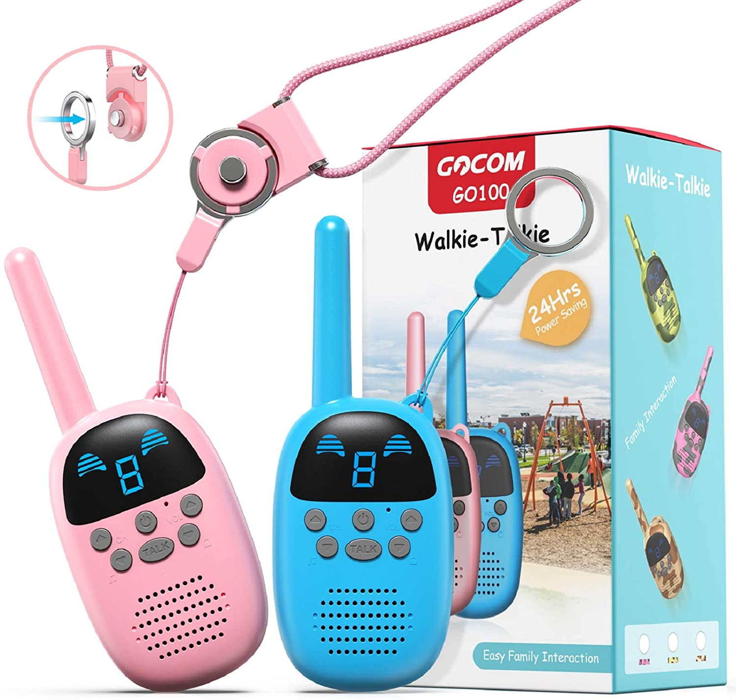 Walkie Talkies for Kids, Kids Toys Handheld Child Gift Walky Talky, Two-Way Radio Boys & Girls Toys Age 4-12