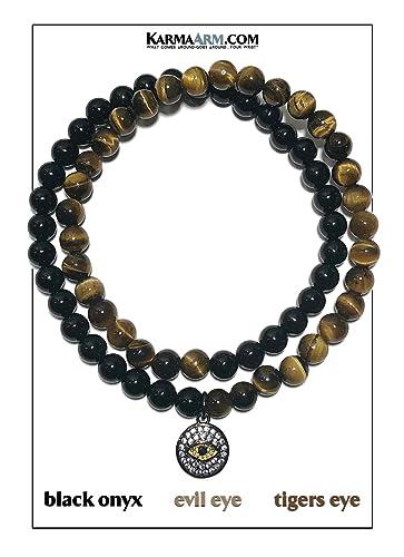 Amazon.com: KarmaArm Evil Eye Charm Bracelet | Protection ...
