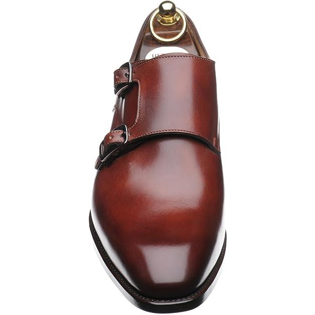 Herring Shakespeare doble monje zapatos en tan Calf, color Marrón, talla 39