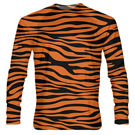 906b467c884 LightningWear Tiger Striped Long Sleeve Athletic Shirts Tiger Striped  Halloween Costume A3XL