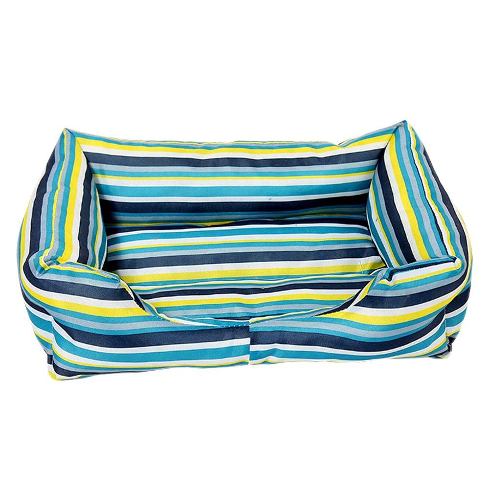 Green Stripes 2XL (9572cm) Green Stripes 2XL (9572cm) BOZEVON Modern Ultra Soft Warm Pet Bed Puppy Dog Mat Pad Cat Sleeping Cushion