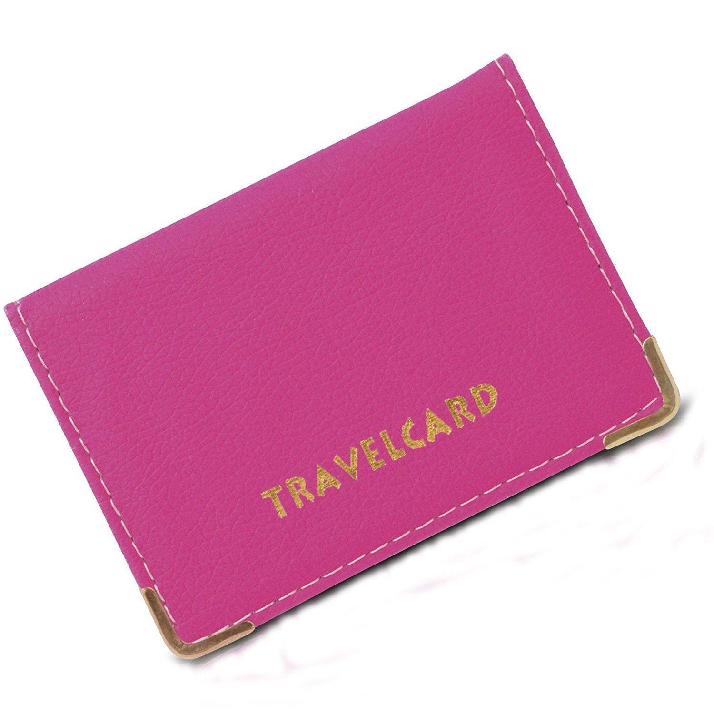 Portafoglio Oyster, in pelle, per tessere, biglietti da viaggio, abbonamento autobus, custodia per tessere.