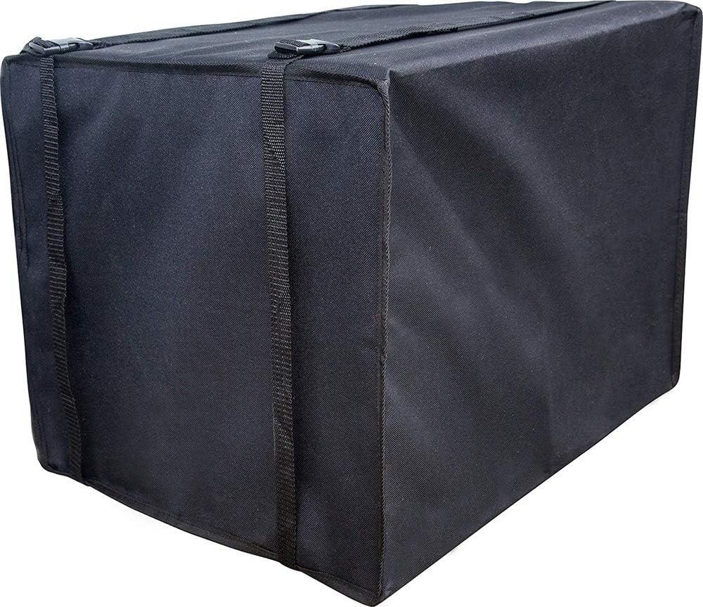 No-brand Außen Garten Klimaanlage Schutzabdeckung, Luftkühlerabdeckung, Zentralklimaanlage Hauptgerät Staub- und wasserdichte Abdeckung (Color : Black, Size : 69X63.5X48cm)