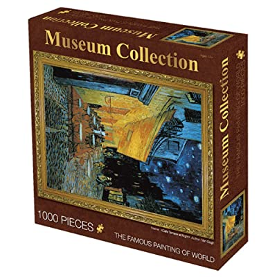 LINAG Jigsaw Puzzle Van Gogh Cafe Terrace at Night for Adults 1000 Pieces Art, Jigsaw Puzzle for Adult Toys Gift Home Decoration,A,7050CM: Sports & Outdoors