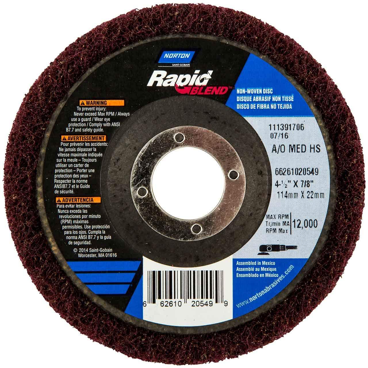 Bear-Tex Non-Woven Discs Norton 66261020549 4-1//2x7//8 in 10 pack