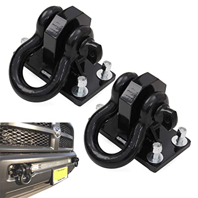 Hodenn Heavy Duty Front Shackle Tow Hooks Short Size Fit for Dodge Ram 2500/3500 2010-2020: Automotive