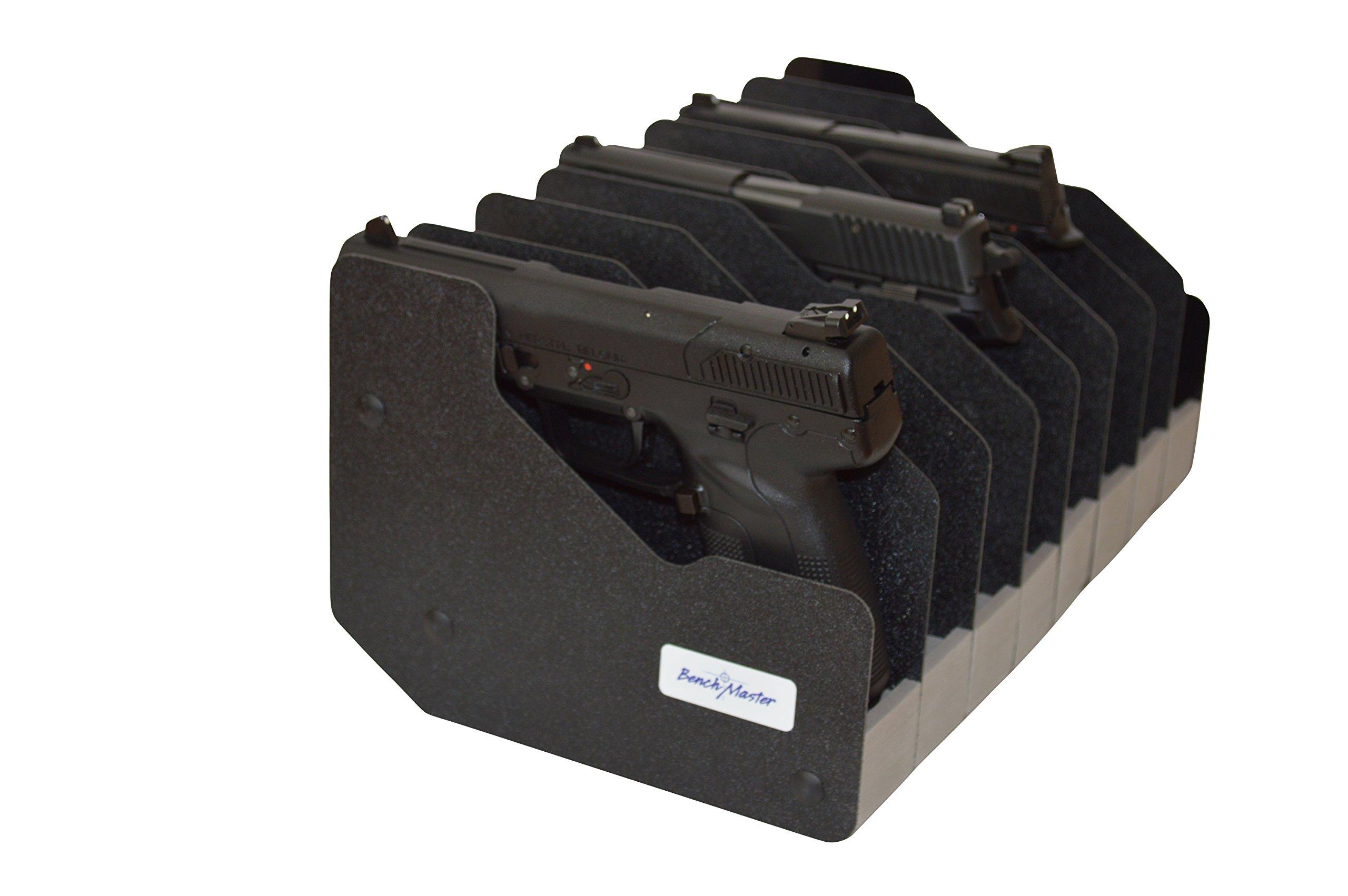 Benchmaster - Weapon Rack - Twelve (12)  Gun Pistol Rack - Gun Safe Storage Accessories - Gun Rack
