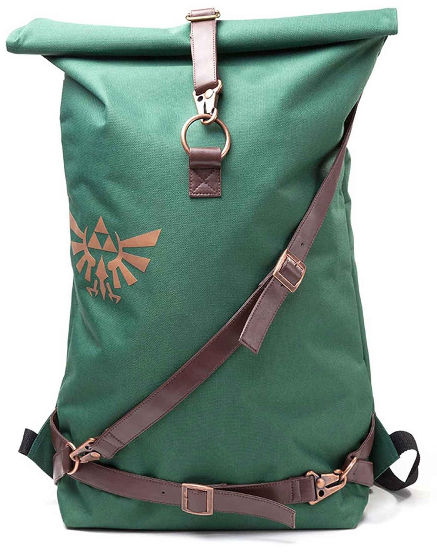 Zelda Backpack Link Straps Hyrule Logo roll top 新しい 公式 Nintendo B079D5MNNL