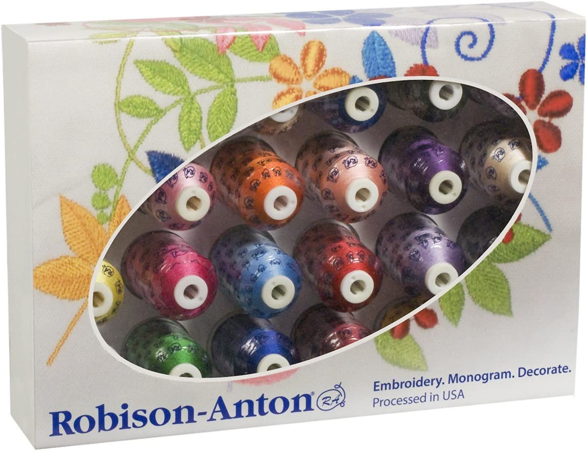 Robison Anton Top 24 Super Strength Rayon Embroidery Thread Set