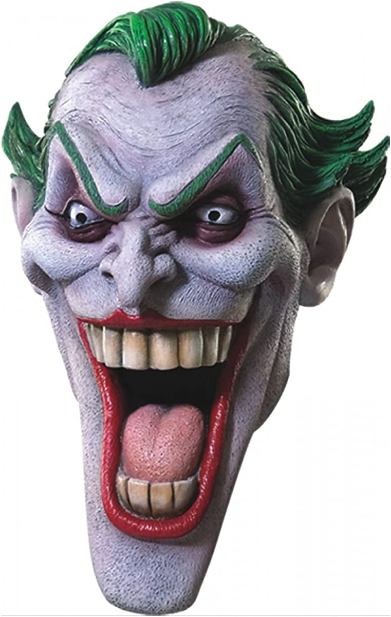 Brand New Batman DC Comics The Joker Deluxe Adult Latex Mask