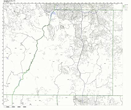 Amazon.com: Douglas County, Colorado CO ZIP Code Map Not Laminated on