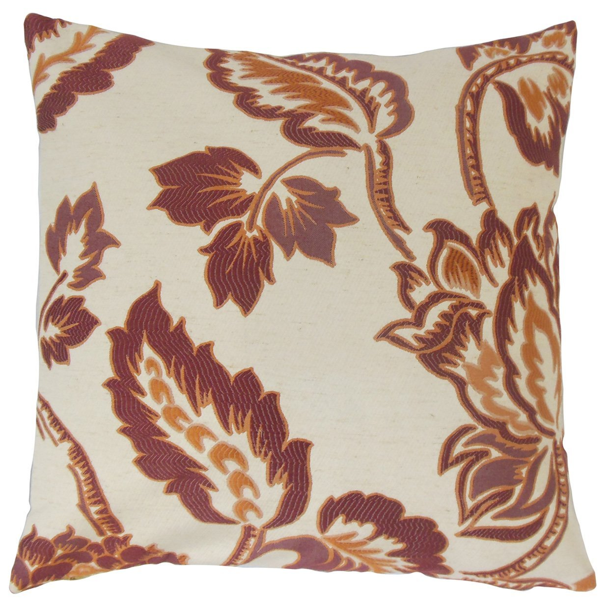 The Pillow Collection Rhynisha Floral Bedding Sham Ginger King//20 x 36