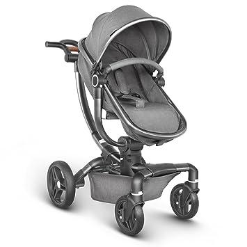 Besrey Silla de Paseo Lujo Cochecito de Bebé con Cuna Reversible para 0-3 años Gris: Amazon.es: Bebé