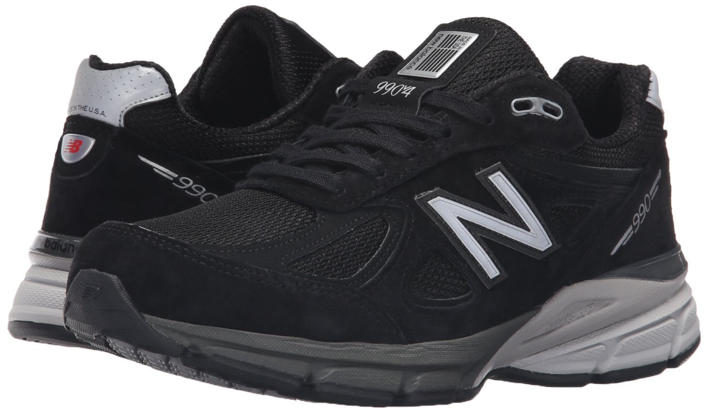 New Balance Women's w990v4 Running US|Black/Silver Shoe B015XY91FC 7.5 2A US|Black/Silver Running b6c43f