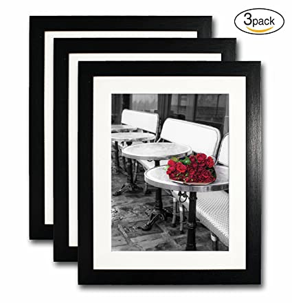 Amazon.com - 8x10 Black Picture Frame Set of 3 for Pictures 6x8 with ...