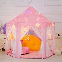 Estink Indoor / Outdoor Kids Fairy Tent Playhouse With LED Light