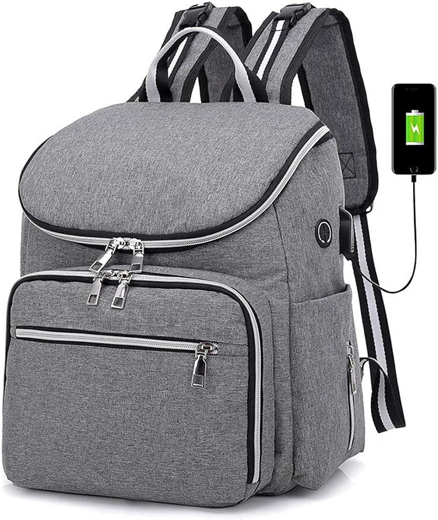 Zoylink Reise Windel Rucksack Windeltasche Multifunktionale USB Port Windeltasche f/ür den Au/ßenbereich