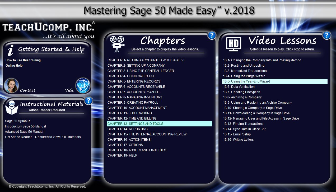 Amazon.com: Mastering Sage 50 Made Easy v. 2018 (U.S. Version) Video  Training Tutorial DVD-ROM Course