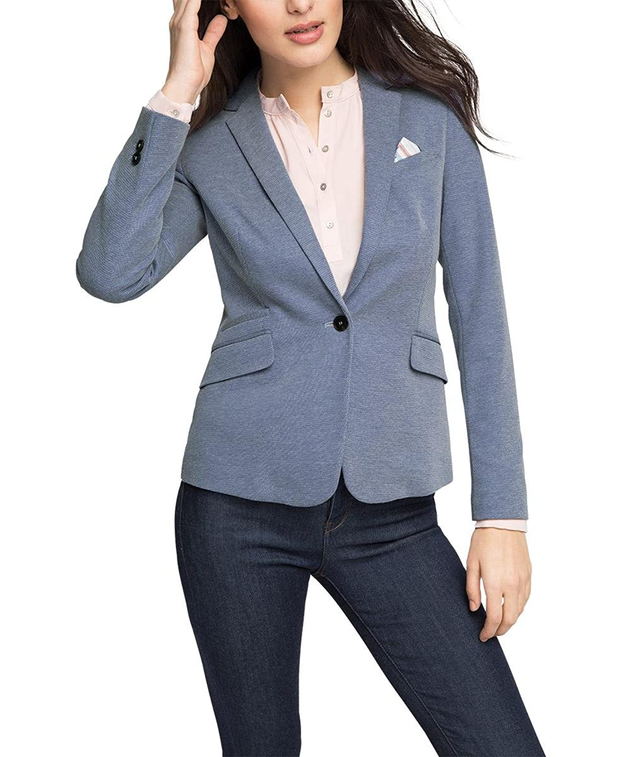 ESPRIT Collection Damen Blazer 036eo1g016-Baumwoll-Mix