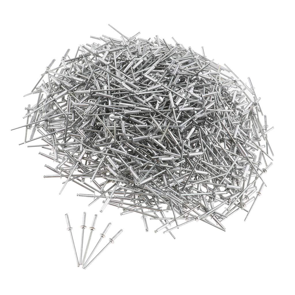 4//5//6//7//8//9//10//12//14mm Blindnieten Set 2.4mm Silber 2.4x6mm B Blesiya 1000er Pack Edelstahl Blind//Pop Nieten