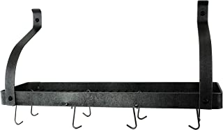 """product image for Enclume PR8BC-30 HS Gourmet Bookshelf Wall Rack with Curved Arm, 30"""", Hammered Steel"""