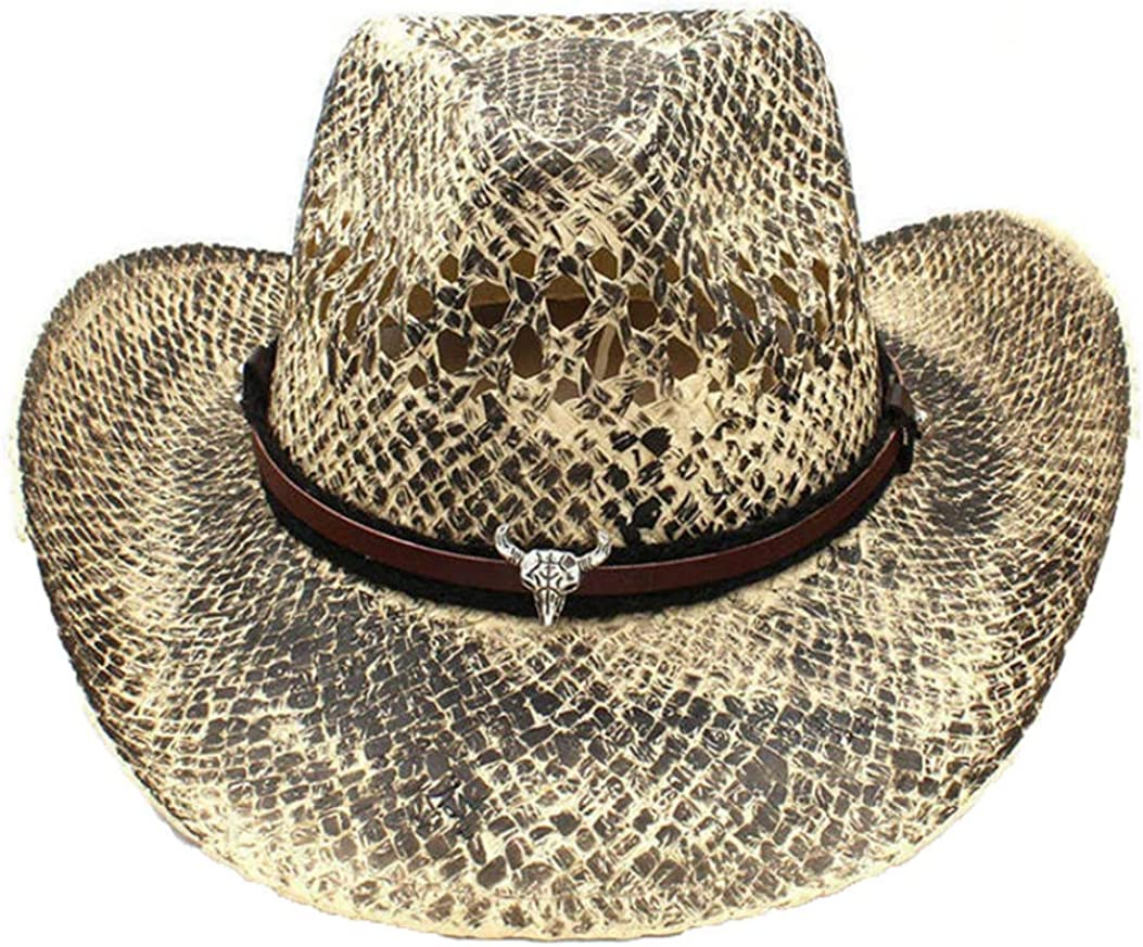 Suede Wide Brim Western Cowboy Hat Unisex Vintage Outback Cowgirl Cattleman Hat