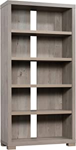 "Sauder Manhattan Gate Tall Bookcase, L: 36.02"" x W: 14.45"" x H: 72.05"", Mystic Oak Finish"