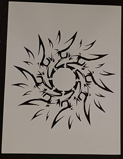 Airbrush Card making Sun Stencil Craft Stencil Sun stencil