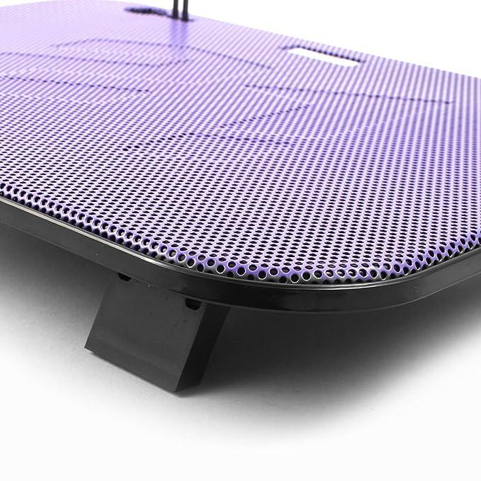 ... silenciosa del radiador de enfriamiento del cojín w aficionados dobles de refrigeración púrpuras por 14 pulgadas DE 15,6 pulgadas portátil: Electronics