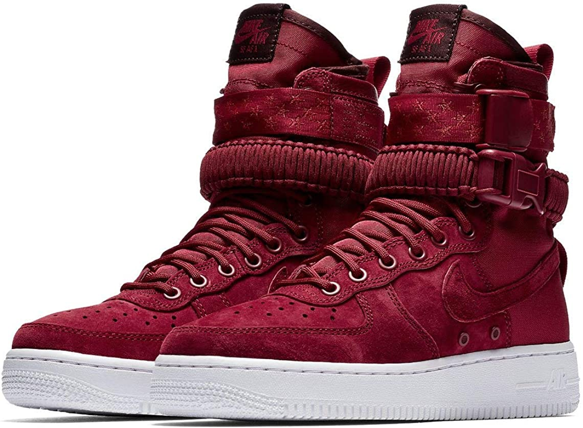 Nike W SF Af1, Scarpe da Ginnastica Basse Donna Multicolore Red Crush Red Crush White Burgundy Crush 001