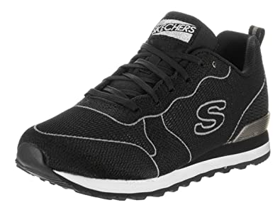 Amazon.com | Skechers Women's OG 85 Shimmer Time Sneaker, Black, US 6 M |  Fashion Sneakers