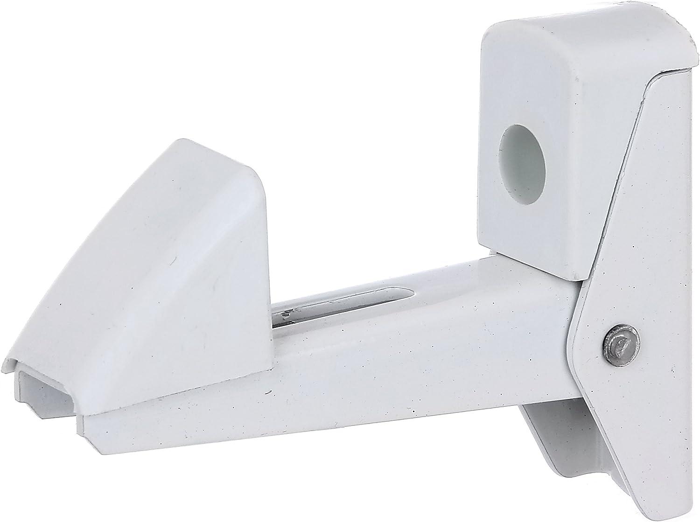 GAH-Alberts 307769 - Bloqueador de puertas y portones (aluminio, cierre automático, 20-50 mm), color blanco