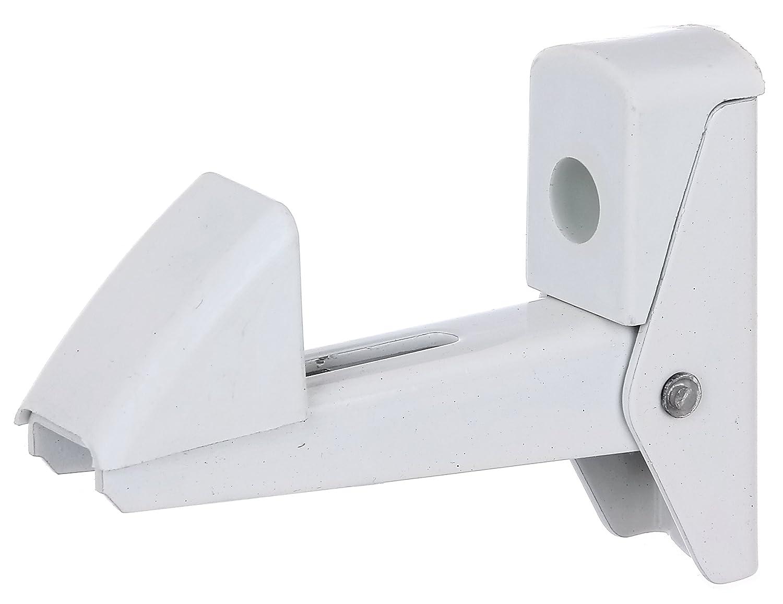 Gah-Alberts 307769 Arr/êt de porte//fen/être en aluminium /à verrouillage automatique Blanc 20-50 mm