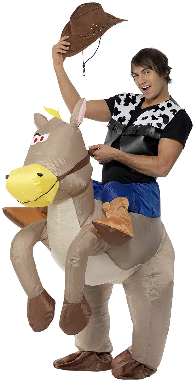 Disfraz de caballo inflable para adulto Única: Amazon.es: Juguetes ...