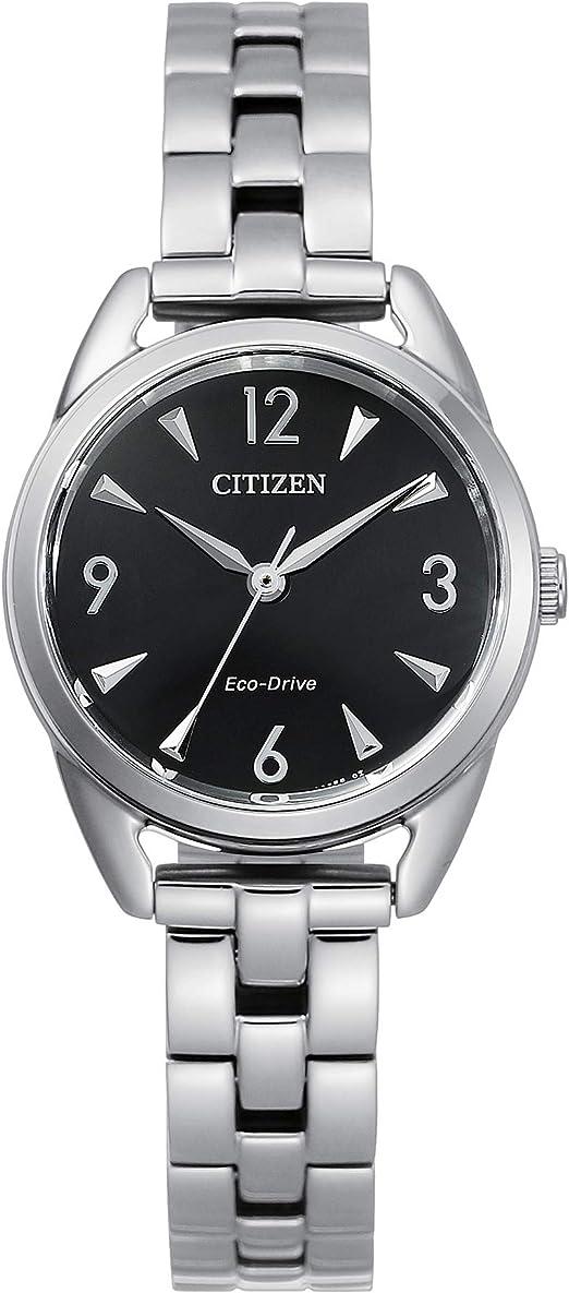 Citizen Women's Drive Quartz Stainless Steel Strap, Silver, 11 Casual Watch (Model: EM0680-70E)